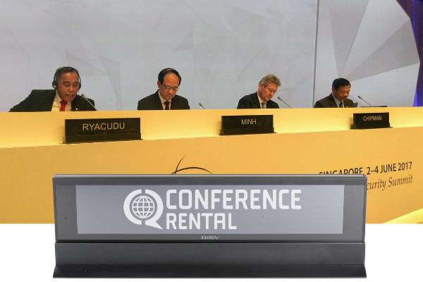 Conference Rental remporte une récompense « Location et organisation » et ouvre la voie à des solutions innovantes en matière de signalétique de conférence