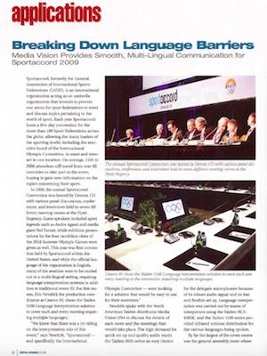 Conference Rental fait tomber les barrières linguistiques pour SportAccord