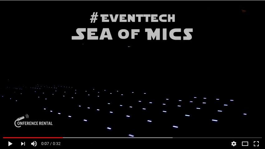Une marée de microphones