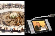Microphones avec écran vidéo